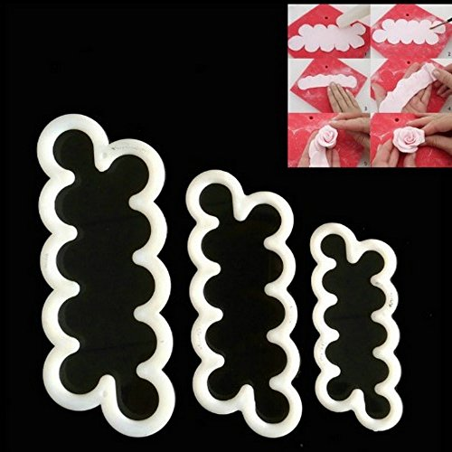 Young Pan Cake Decorating Gumpaste Flowers & The Easiest Rose Ever Small Cutter Set of 3 (Cake Pan Cutter compare prices)