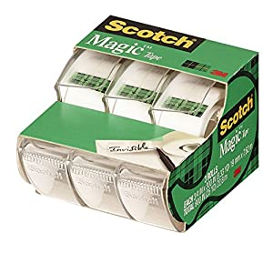 Scotch Magic Tape , 3/4 x 300 Inches, 3-Pack  (3105)