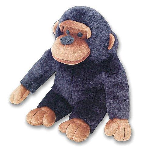 Artikelbild: Hundespielzeug - sehr großer Affe (Schimpanse) Hundespielzeug. Der wohl lauteste Hundespielzeug wir haben! Dieses Hundespielzeug hat eine Quietsche im Bauch und ein lauter richtige Affen 'Geschwätz' in der Schimpansen Kopf, wenn es gedrückt wird. In allen Größen ca. 18 '/ 46 cm. Dunkelbraun.