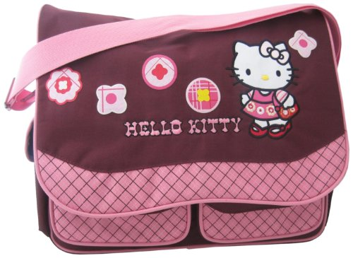 Hello Kitty Diaper Bag with Plaid Trim, Brown