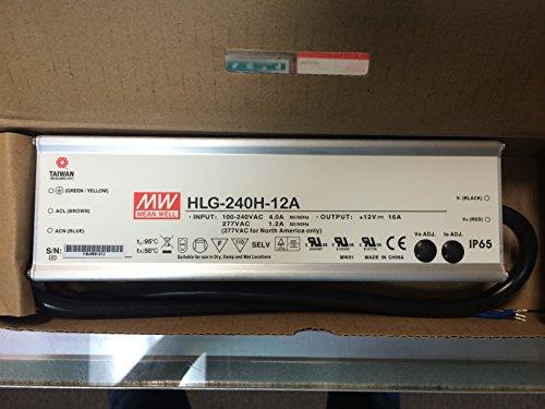 Mean Well Hlg-240H-12A - 12 Volt - 196 Watt - 16 Amp Olympianled