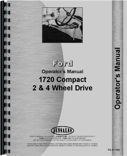 Ford 1720 Tractor Operators Manual (Ford Tractor 1720 compare prices)