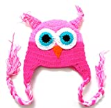 BB27 Baby Bonnet 0 18 Months Pink Owl