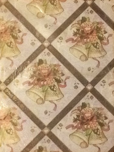 American Greetings, Forget Me Not., Wedding Bells, Wedding Gift Wrap Paper 8.33 Sq Ft- 1 Sheet front-738232