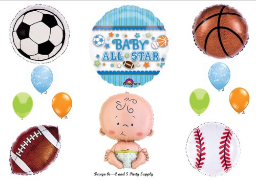 It'S A Boy Baby Shower All Star Sports Balloons Decorations Supplies