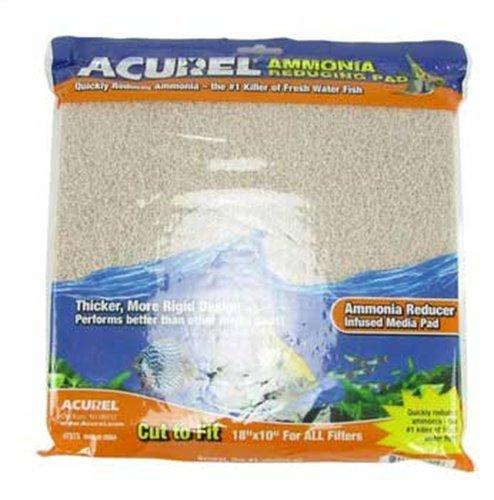 Imagen de Acurel LLC amoníaco reducción Media del cojín acuario y estanque filtro accesorio, 10 pulgadas por 18 pulgadas