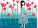 Diy oil painting, paint by number kits for kids - Petal Girl 20X30cm.