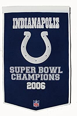 Indianapolis Colts Official NFL 24 inch x 36 inch Dynasty Banner Flag by Winning Streak