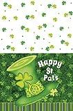 Plástico Lucky rayas St. Patrick 's Día Mantel, 7ft x 4.5ft
