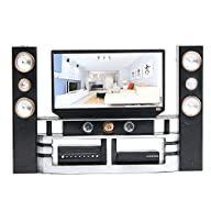 E-TING Hi-Fi TV Cabinet Set Dollhouse…
