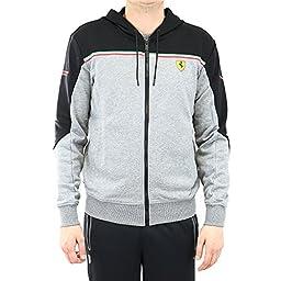 PUMA Men\'s Ferrari Sweat Jacket, Medium Gray Heather, Medium