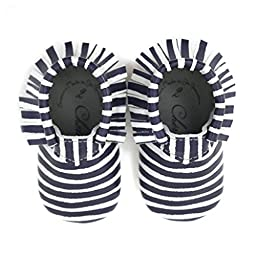 Navy Commander • 100% American leather moccasins for babies & toddlers • Made in US