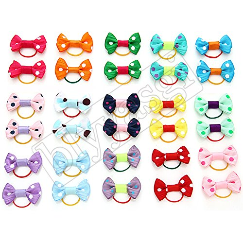 20-Pieces-Pack-Puppy-Dog-Pet-Hair-Bows-for-Grooming-6-Different-Type-for-Choice