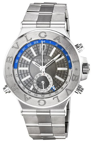 Bvlgari Diagono Professional GMT Grey Dial Automatic Mens Watch DG40C14SSDGMT
