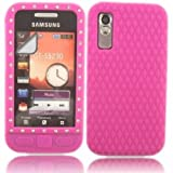 Gem Silicone Case Cover Skin And LCD Screen Protector For Samsung Tocco Lite S5230 / Pink