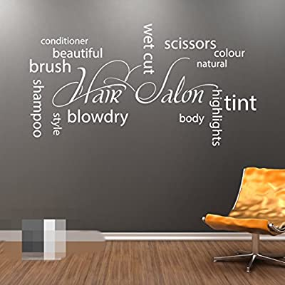 HAIR SALON Collage Wall Art Vinyl Sticker - Hairdressers Beauty Salon shop