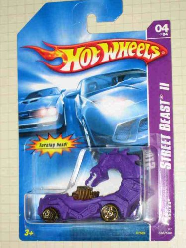 Street Beast 2 Series #4 Rodzilla Purple #2007-68 Collectible Collector Car Mattel Hot Wheels - 1