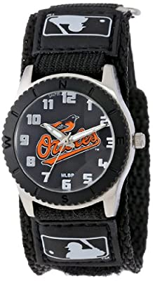 "Game Time Unisex MLB-ROB-BAL ""Rookie Black"" Watch - Baltimore Orioles"