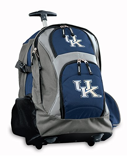 University Of Kentucky Rolling Backpack Deluxe Navy Uk Wildcats Logo Backpacks