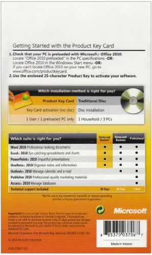 microsoft office 2010 home and student edition product key