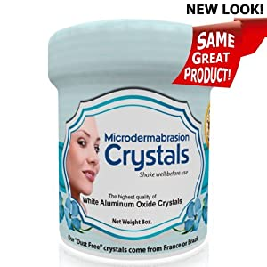 Microdermabrasion Crystals - 8oz (Grit 120) - Exfoliating Skin Care. NOW YOU CAN PERFORM YOUR OWN MICRODERMABRASION AT HOME! Can easily be added to creams and cleansers to create milder exfoliating products for home use. GREAT FOR ACNE SCAR WRINKLES FINE