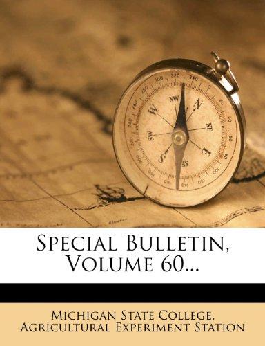 Special Bulletin, Volume 60...