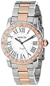 Invicta Womens 14377 Angel Silver Dial Diamond-Accented