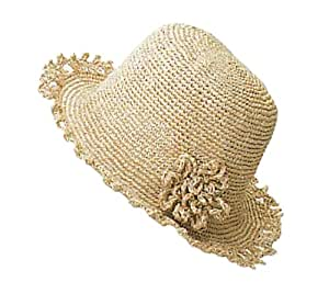 Amazon.com: Wide Brim hat Hamanaka corsage [Ekoandaria knitting kit