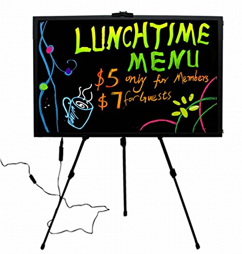 """Flashing Menu Message Led Board With Fluorescent Sign 23"""" X 18"""""""
