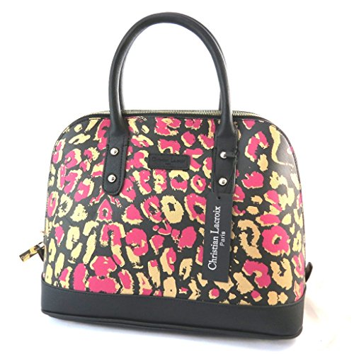 Borsa 'french touch' 'Christian Lacroix'nero rosa dorato.