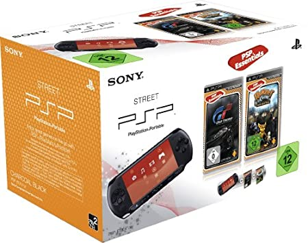 PlayStation Portable - Konsole E1004, schwarz mit Gran Turismo [Essentials] + Ratchet & Clank: Size Matters [Essentials]