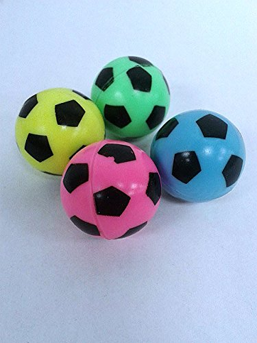 Soccer Bouncy Balls Neon Colors 27mm (12 count)