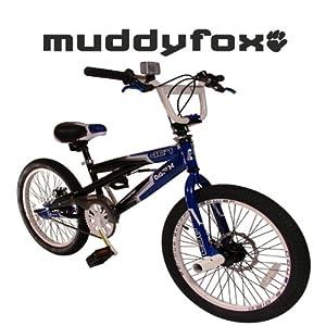 "MuddyFox Jet 20"" 360 Gyro BMX Bike - Boys - Blue and Black"