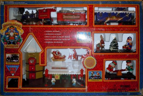 Holiday Nutcracker Express Battery Operated Train Set With Working Headlight And Animated Figures