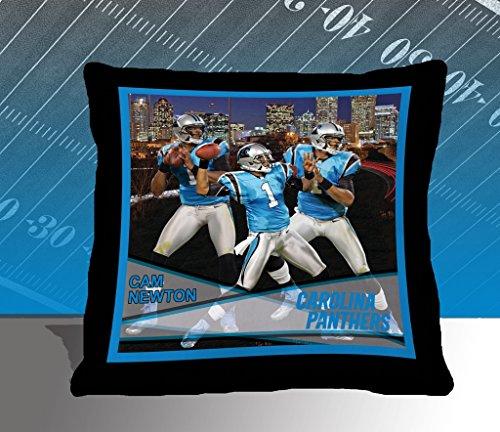 Nfl Biggshots Bedding - Carolina Panthers Cam Newton Toss Pillow, 18-Inch front-841283