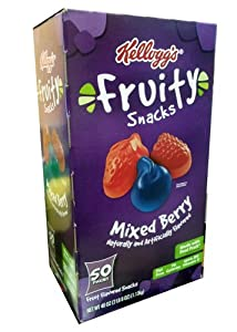 Kellogg's Fruity Snacks Mixed Berry 50-0.8oz Pouches
