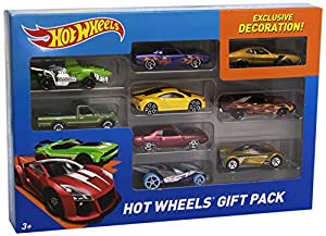 HOT WHEELS GIFT PACK INCLUDING EXCLUSIVE DECORATED CAR