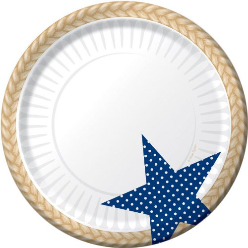 Creative Converting 8 Count Paper Dessert/Lunch Plates, Picnic Basket