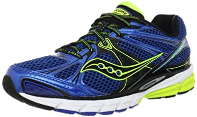 Saucony Men's Guide 6 Running Shoe,Blue/Citron,7 M US
