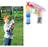 Rhode Island Novelty Light-Up LED Transparent Bubble Gun