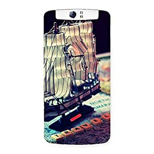 Gorgeous Travel Ship Map Multicolor Back Case Cover for Oppo N1