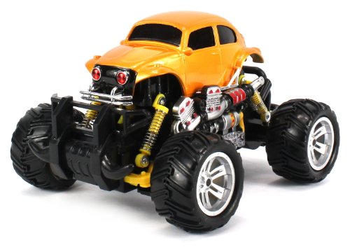 Volkswagen Beetle Electric Rc Off-Road Monster Truck 1:18 Scale 4 Wheel Drive Rtr, Working Hinged Spring Suspension, Perform Various Drifts (Colors May Vary)