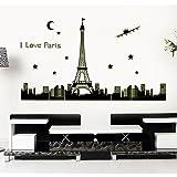 Gadfly- Eiffel Tower Peel & Stick Nursery/baby Wall Sticker Decal