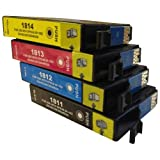 4 CiberDirect Compatible Ink Cartridges for use with Epson Expression Home XP-405 Printers.