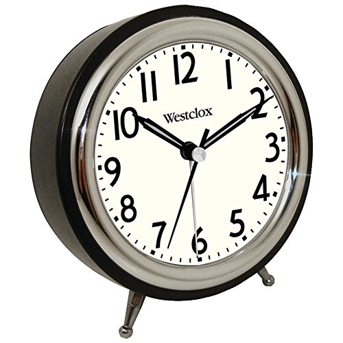 WESTCLOX 75032 Classic Retro Alarm Clock with Chrome Bezel (Corded Electric Clock compare prices)