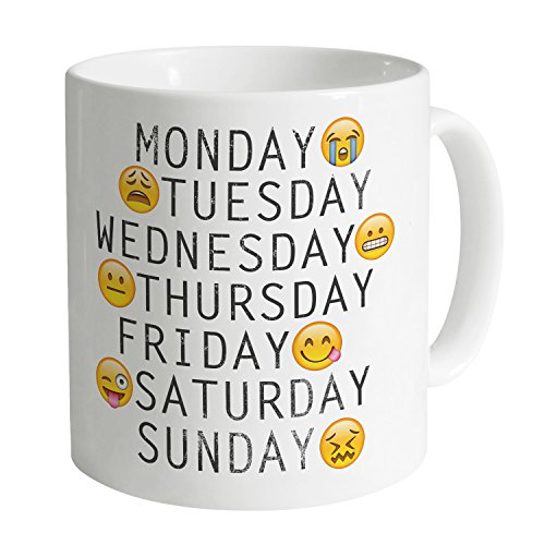Official Two Tribes Weekdays Emoji Tazza