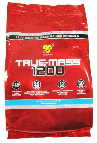 Bsn - True-Mass 1200 Ultra-Premium Super Mass Gainer Vanilla Ice Cream - 10.25 Lbs.