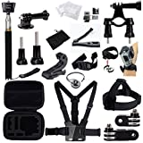 GBB Basic Outdoor Sport Action Camera Accessories Kit Camcorder DV Sets for Gopro Hero Hero1 2 3 3+ 4 Xiaoyi Yi Design for Bicycling(25 items) [並行輸入品]