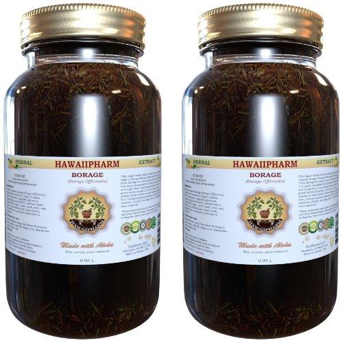 Borage Liquid Extract, Organic Borage (Borago Officinalis) Tincture 2X32 Oz