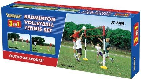 3 In 1 Badminton Volleyball and Tennis Training Game Set kids garden sport kit childrens games